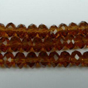 Gyldenbrune glasrondeller 4x6mm