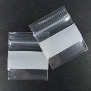 Lynlåsposer m skrivefelt(2½x2½cm)