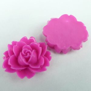 16x18mm Pink resin blomster(8stk)