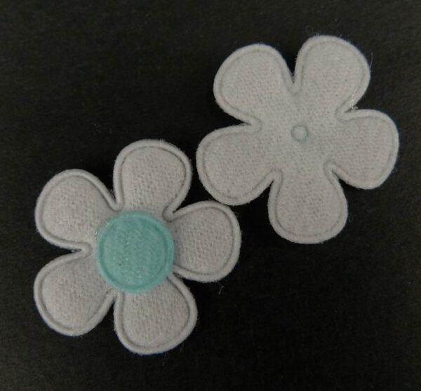 Tekstil blomster lyseblå