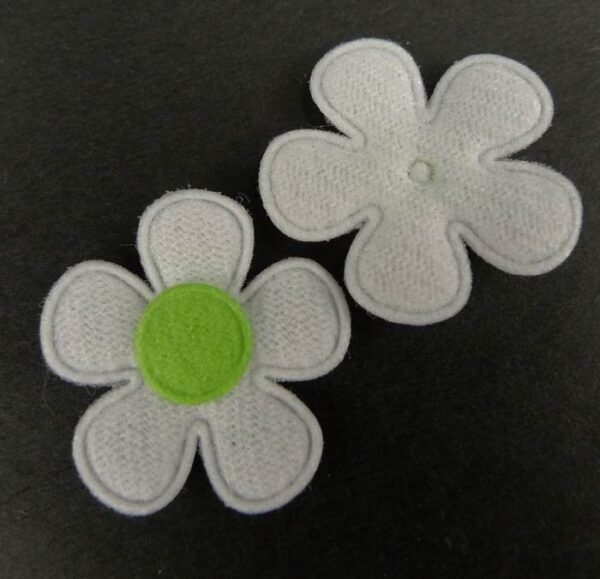 Tekstil blomster lysegrøn