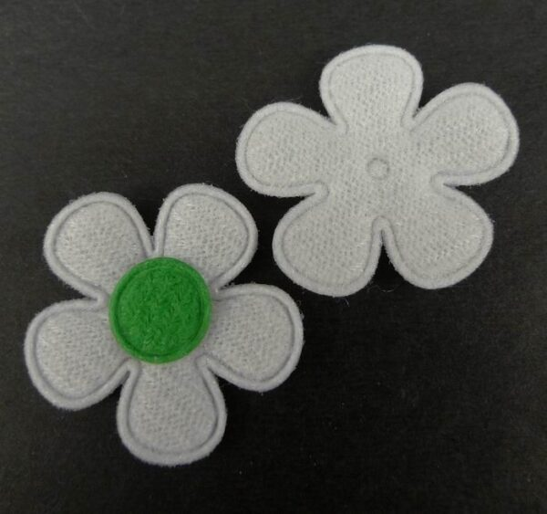 Tekstil blomster grøn