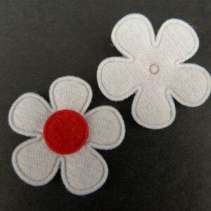 Tekstil blomster rød