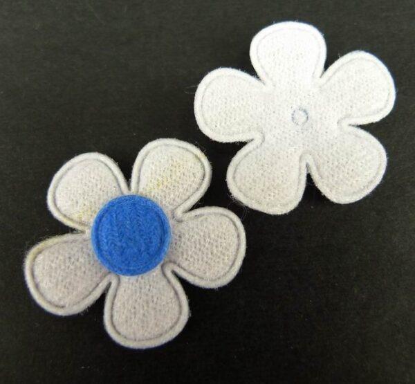 Tekstil blomster blå