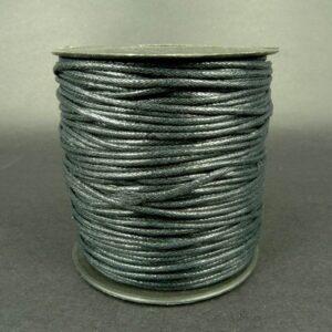 Bomuldssnøre, sort 1,9mm(knyttesnor)