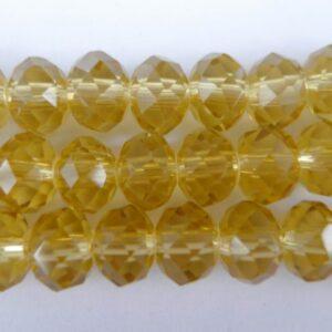 Gyldengule glasrondeller 4x6mm