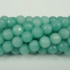 'Jade', Aqua facetterede 6mm