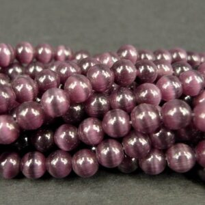 Purple cats eye 6mm