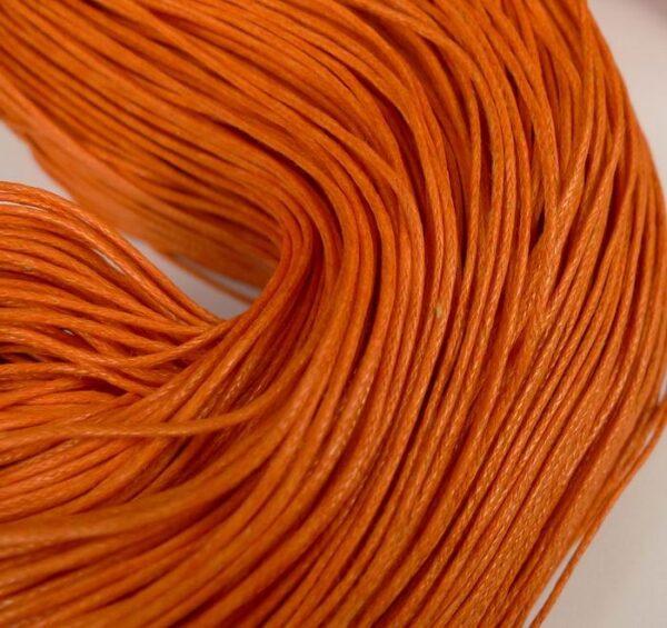 10meter Bomuldssnøre, orange 1mm