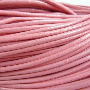 10meter Lædersnøre pink 3mm