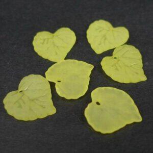 Gule blade i acryl (25stk)