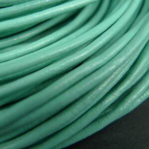Lædersnøre Aqua 2mm (pris pr. meter)