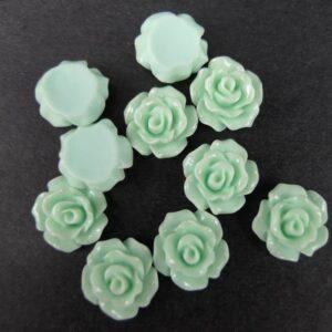 11mm roser, lys aqua 10stk