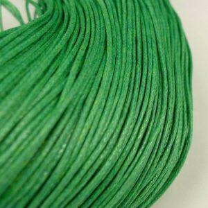 10meter Bomuldssnøre, grøn 1mm