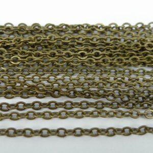 'Bronze' ankerkæde, 2½mm(1 meter)