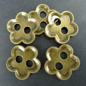 'Antik bronze' knapper(10stk)