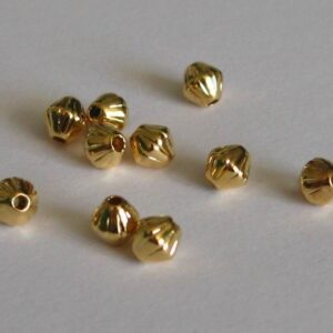 Rillede bicone perler FG 4mm(20stk)