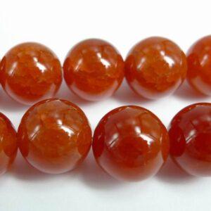 Røde krakelerede agater 12,5mm