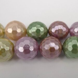 2.sort. Facetterede shellperler Spring mix 10mm