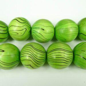 5stk. Grønne træperler 25mm