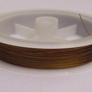 Tigertail, guldfarvet 0,38mm. (ca. 90 meter)