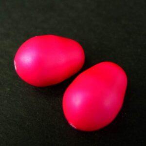 Swarovski dråber, Neon pink 8x11mm(2stk)