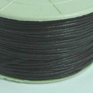 Bomuldssnøre, mørkebrun 1mm.(rulle med 91 meter)