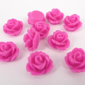 10mm Hot pink roser(10stk)