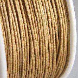 Bomuldssnøre, naturfarvet 1 mm. (91meter)