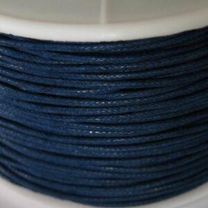 Bomuldssnøre, navy blå 1 mm. (knyttesnor)