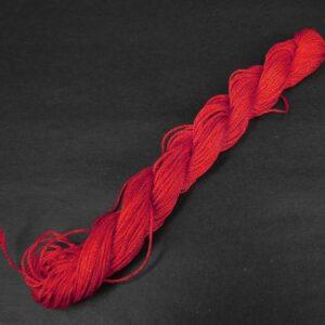 Nylon snøre rød, 1,2 mm. (pris pr. bundt)