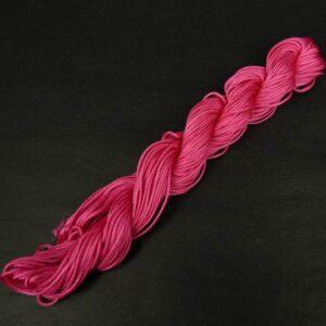 Nylon snøre soft pink, 1,2 mm. (pris pr. bundt)