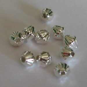 *Rillede bicone perler FS 4mm(100stk)