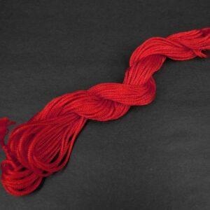 Nylon snøre rød, 1,5mm(pris pr. bundt)