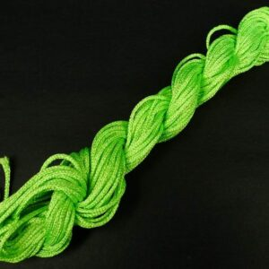 Nylon snøre neon grøn, 1,5mm(pris pr. bundt)