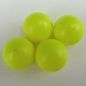 Swarovski anborede, neon yellow 6mm.(2stk)