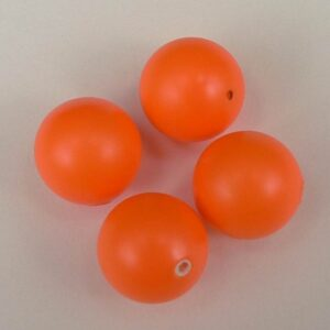 Swarovski anborede, neon orange 6mm.(2stk)