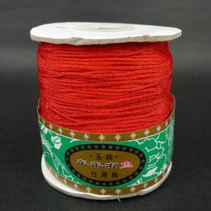 *Nylon snøre Rød, 1,5mm(pris pr.rulle)