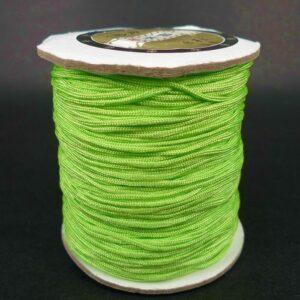 *Nylon snøre Neon Grøn, 1,2mm(pris pr.rulle)