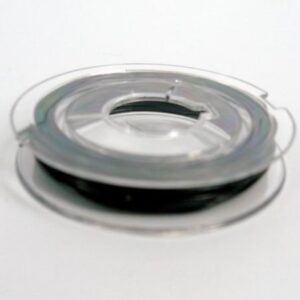 Sort elastiktråd 0,8mm (ca.6m)
