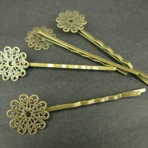 'Bronze' Hårnåle med filigran plade