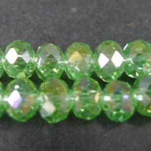 AB Lysegrønne glasrondeller 4x6mm