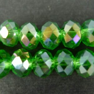 AB Fern Green glasrondeller 4x6mm