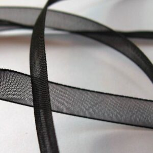 Sort organzabånd 0,7 cm (pris pr. meter)