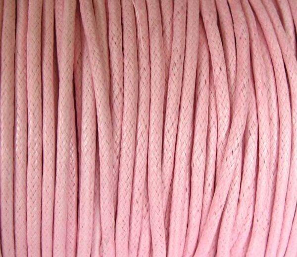 10 meter Bomuldssnøre, rosa 2mm