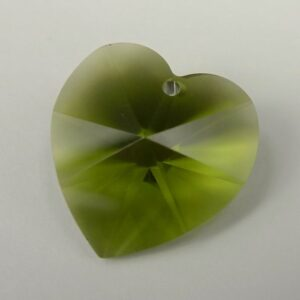 Swarovski hjerte, olivine 18mm(1stk)