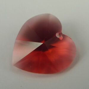 Swarovski hjerte, padparadscha 18mm(1stk)