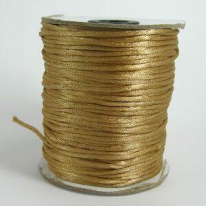 Gyldenbrun 'silke'snor 2½mm(pris pr. meter) (knyttesnor)