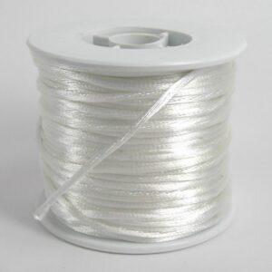 Hvid satinsnor 2½mm(pris pr. meter) (knyttesnor)