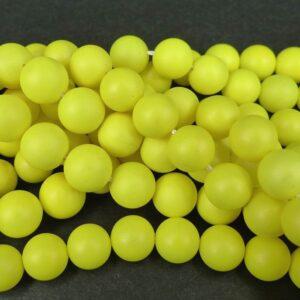 Neongule glasperler 10mm(coatede)